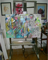 Adapted easel